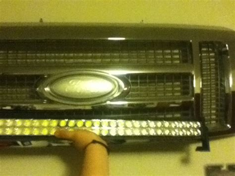 Ok Led Light Bar In Front Or The Grill Just Got 30 Quot Cree Okledlightbar Page 3 Ford F150 Forum