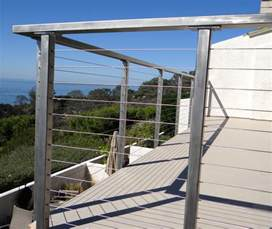 stainless steel deck railing posts bare san diego cable railings