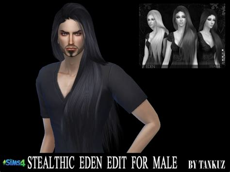 long hairstyles for men sims 4 stealthic eden edit for males at tankuz sims4 187 sims 4 updates