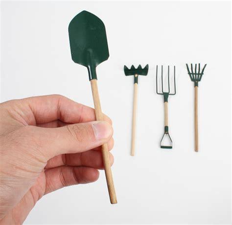 Miniature Gardening Tools miniature garden tool set what s new dollhouse miniatures doll supplies craft