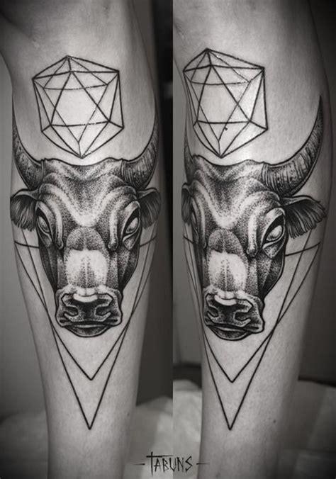 geometric tattoo taurus geometric bull tattoo bull pinterest