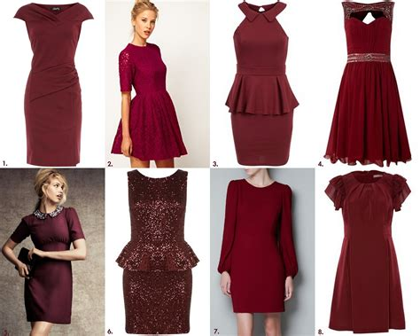 Dress Maroon frills and thrills the burgundy dress trend