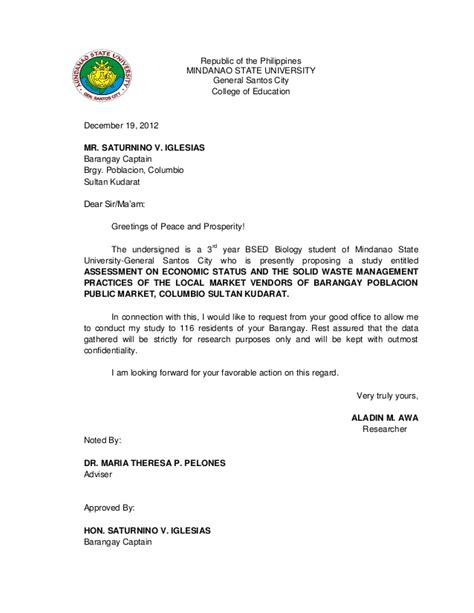 Transmittal Letter Deped Validation Letter For Thesis