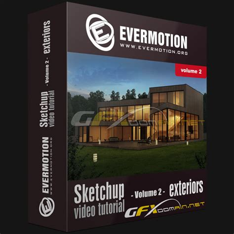 Tutorial Sketchup Vol 1 evermotion sketchup tutorial vol 2 exterior gfxdomain