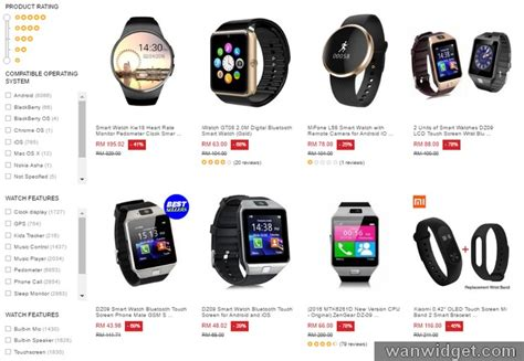 Jam Tangan Smartwatch Android beli smartwatch android murah ecommerce in malaysia
