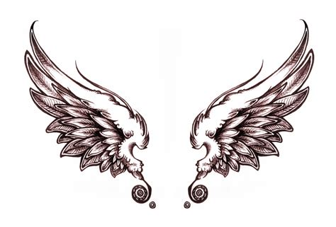 angel wing tattoo design wings on wing tattoos wings and