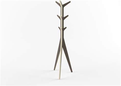 minimal layered wood coat stand modern coatracks and