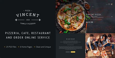 themeforest mafia pizza psd vincent pizza by pixel mafia themeforest