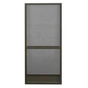 screen doors home depot screen tight 36 in x 80 in floridian aluminum bronze