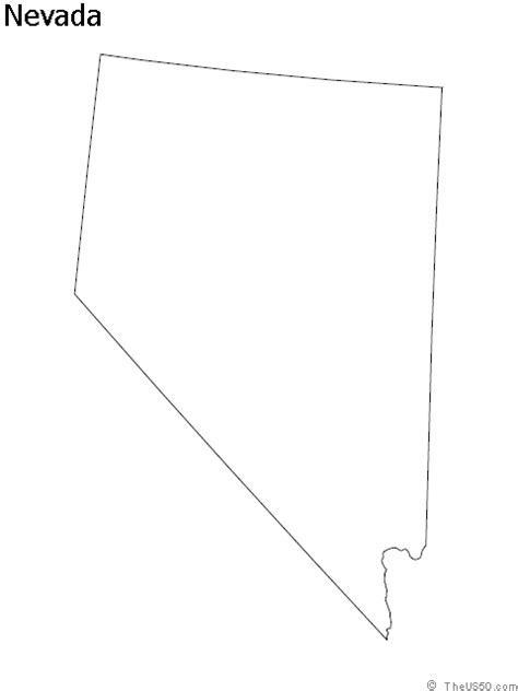 nevada map coloring page the us50 view the blank state outline maps