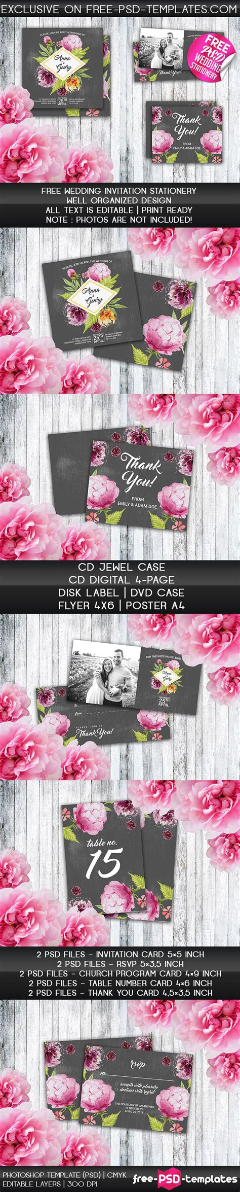 Wedding Invitation Preview by Free Psd Wedding Invitation Stationery Free Psd Templates