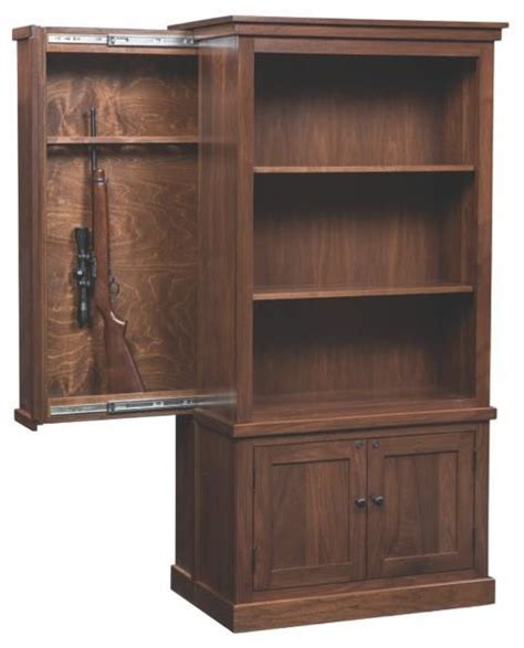 american cambridge bookcase with gun safe