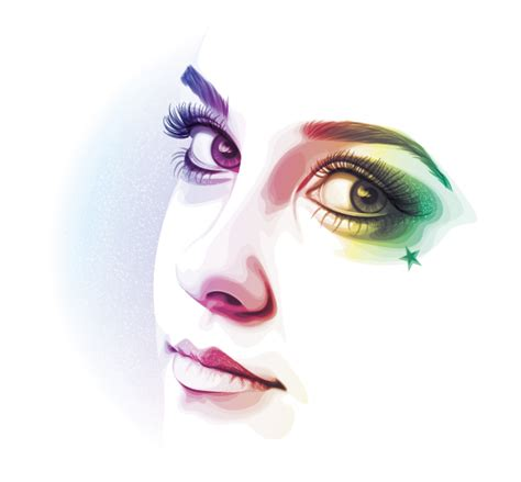 tutorial illustrator design how to create a rainbow colored portrait from a stock
