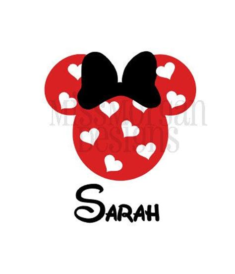 minnie mouse valentines personalized minnie mouse disney iron on