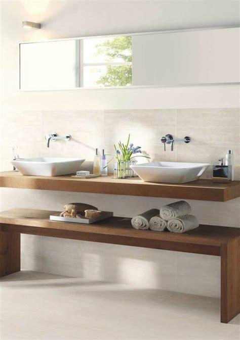 Attrayant Model Salle De Bain Moderne #1: model-de-salle-de-bain-meubles-salle-de-bain-en-bois-carrelage-beige.jpg