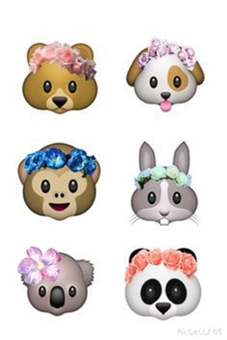 Monet Flower Crown Rabbit Diary Deco Stickers emoji monkey with flower crown wallpaper search emojis flower crowns