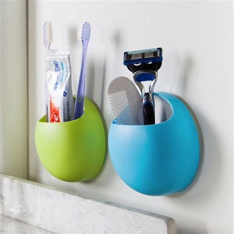 Wall Suction Toothbrush Holder home bathroom toothbrush wall mount holder sucker suction
