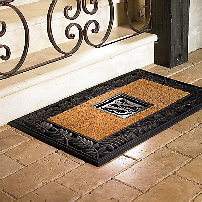Monogrammed Front Door Mat by Personalized Olive Border Entry Mat Traditional