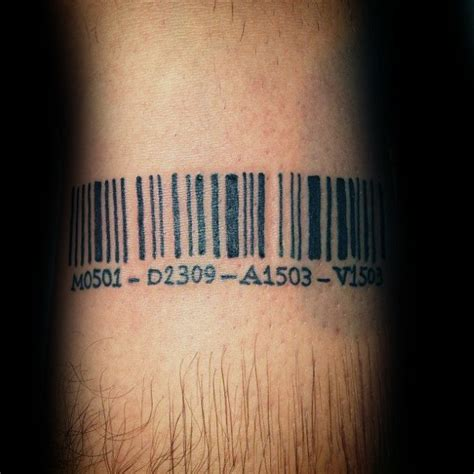 barcode tattoo design collection of 25 barcode