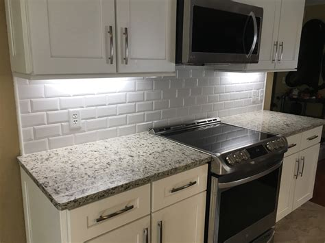 subway tile backsplash 3 215 6 beveled edge subway tile backsplash odessa florida