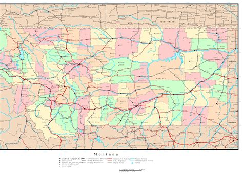 montana county map montana state map with cities and counties wall hd 2018