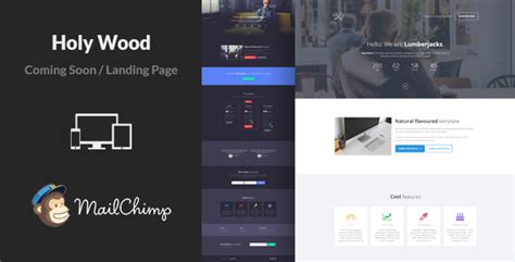 Holy Wood Responsive Coming Soon Template By Lumberjacks Themeforest Coming Soon Landing Page Template
