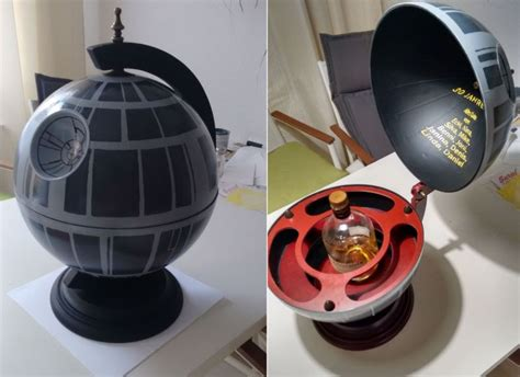 Kitchen Makeover Images - diy star wars death star globe bar for a little cosmic touch
