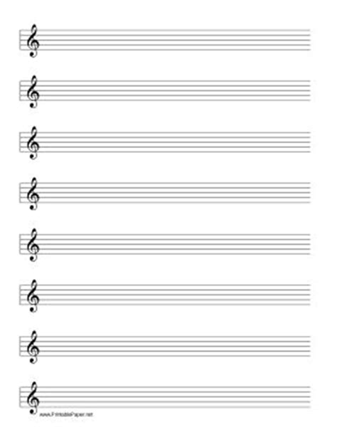 printable staff paper treble clef this manuscript paper includes eight rows of five line