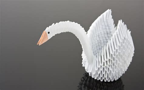 Paper Swan - diy origami wedding accessories