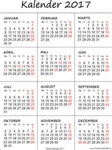 Kalender For 2018 Med Helligdage Kalender 2017 Med Helligdage Gratis Printable Pdf