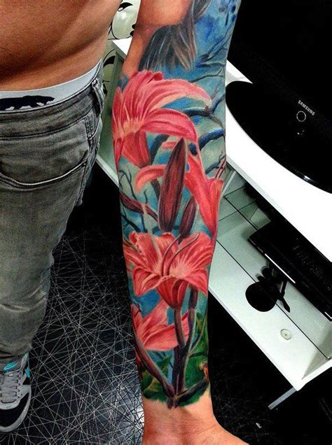 lily tattoos for men 36 tattoos on sleeve
