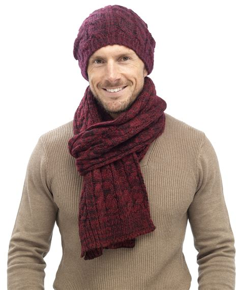 mens cable knit beanie hats mens luxury fairisle cable knit slouch beanie bobble hat