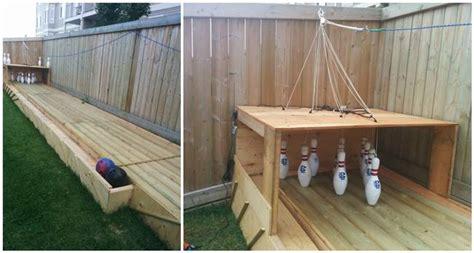 creative ideas diy backyard bowling alley