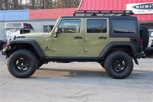 pre owned 2013 jeep wrangler rubicon commando green