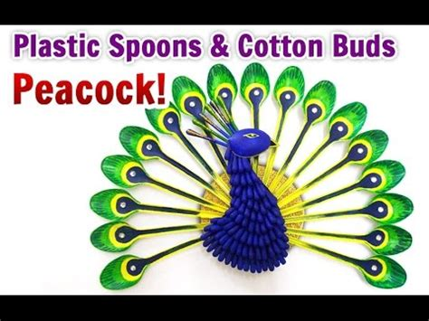 craft work for home decoration diy home decoration how to make a peacock from plastic