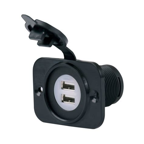 marine battery charger outlet marinco sealinkπdeluxe dual usb charger receptacle 12v to