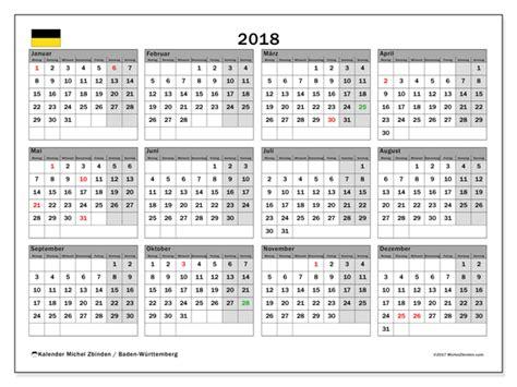 Kalender 2018 Ferien Feiertage Baden Württemberg Kalender Zum Ausdrucken 2018 Feiertage In Baden
