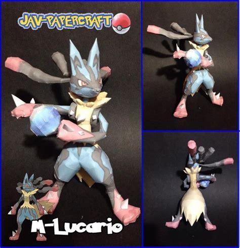 lego lucario tutorial pokemon mega lucario ver 2 free papercraft download