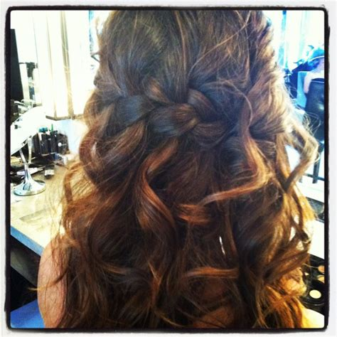 curly hairstyles plait waterfall braid with curls my new hair