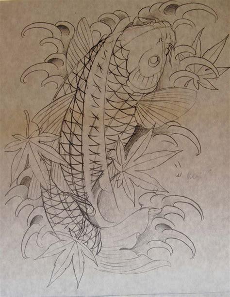koi fish tattoo sketch spotted koi tattoo by chris garver senses lost