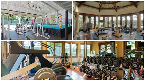 mansions with 6 the top home gyms