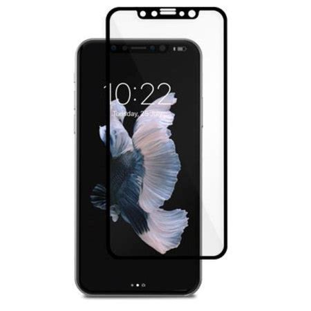 Temper Glass Iphone X moshi ionglass iphone x tempered glass screen protector black