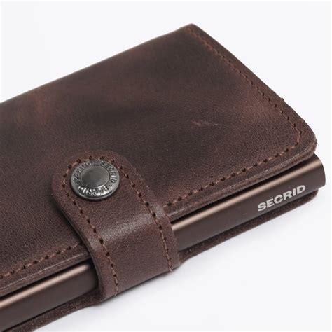 Mini Wallet miniwallet vintage brown credit card wallets slim