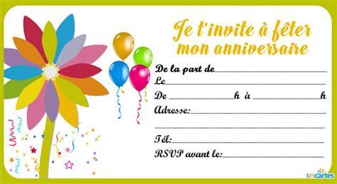 Modèles De Lettre D Invitation à Un Anniversaire Invitation Anniversaire Assortiment De Fleurs 123 Cartes