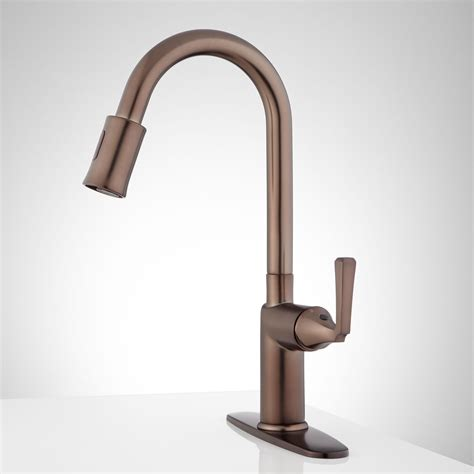 touchless kitchen faucet mullinax single hole touchless kitchen faucet with deck