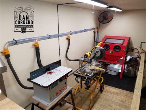 shop vac dust collection system garageworkshop shop