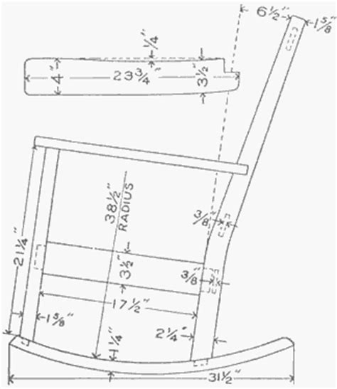 wooden rocking chair template pdf plans