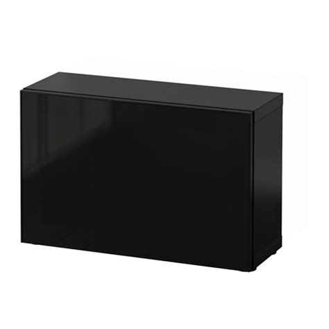 besta black brown best 197 shelf unit with glass door black brown glassvik