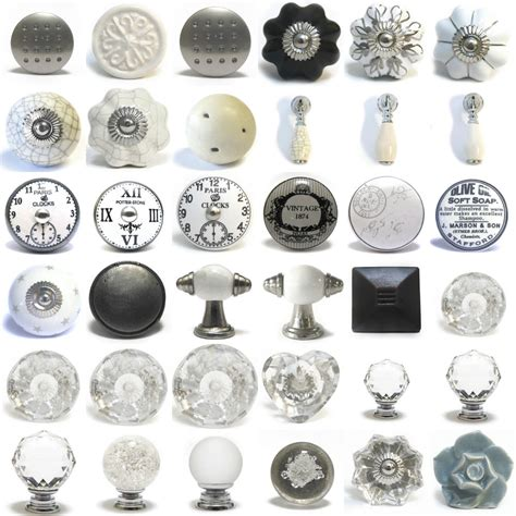 shabby chic knobs vintage grey white black ceramic shabby chic cupboard door