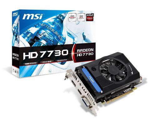 Vga Card Hd 7730 msi silently launches radeon hd 7730 graphics card with 1 gb memory